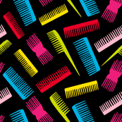 colourful combs