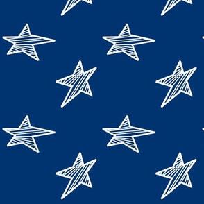 White Stars on Navy