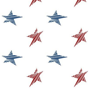 Red and Blue Stars with white stripes