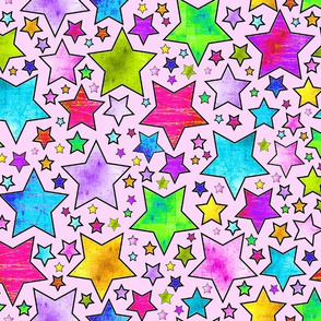 STARS Electric grunge pink frosting