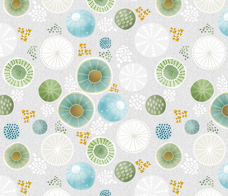 Modern Cacti  fabric by eloisadocton on Spoonflower - custom fabric