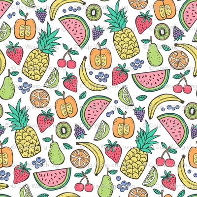 Summer Fruit Pineapple,strawberry,watermelon