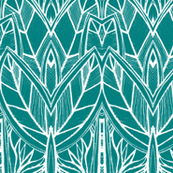 Turquoise Leaves