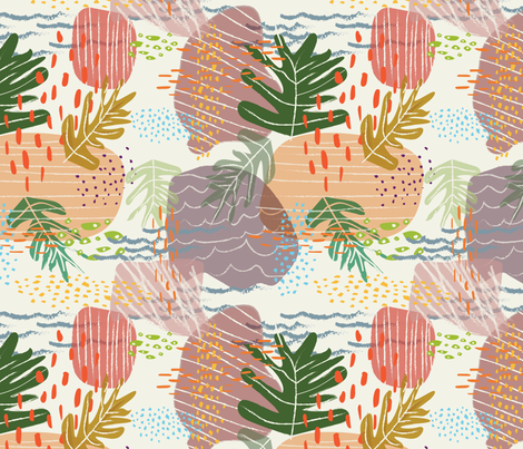 foraged finds fabric by nicoleevelyn on Spoonflower - custom fabric