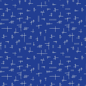 Geometric Lines Blue