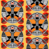 Bold Ethnic Circles - orange tones