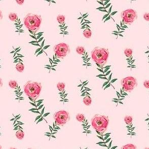 Red Roses Garden Pink Pastel