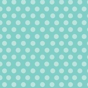 PinUp Polka Dots - Turquoise
