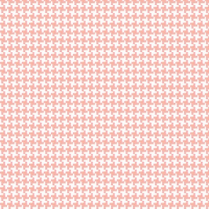 Houndstooth* (Peach Halves) || geometric midcentury modern 60s 1960s sixties mod pastel