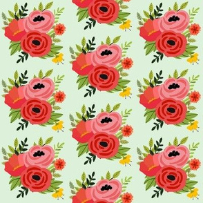 Mod Red Flowers Bouquet