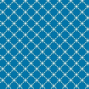 Lattice* (Blue Liz) || midcentury modern farm vintage retro kitchen chicken wire starburst