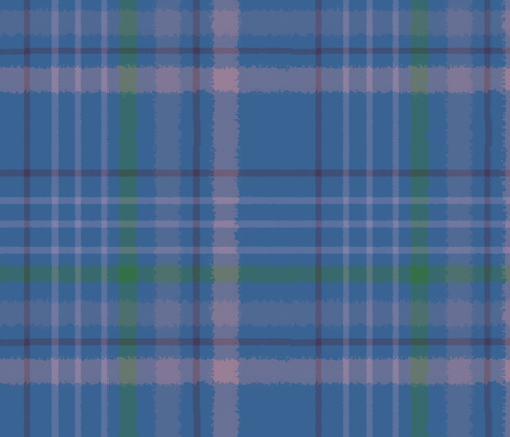 Subdued_Plaid-Blue fabric by mammajamma on Spoonflower - custom fabric