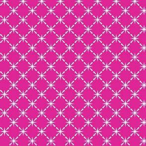 Lattice* (Pink Riot) || midcentury modern farm vintage retro kitchen chicken wire starburst