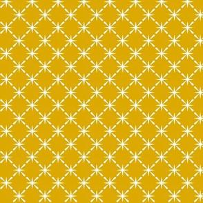 Lattice* (Gold Marilyn) || midcentury modern farm vintage retro kitchen chicken wire starburst summer mustard