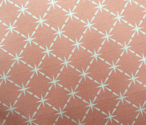 Lattice* (Peach Halves) || midcentury modern farm vintage retro kitchen chicken wire starburst pastel