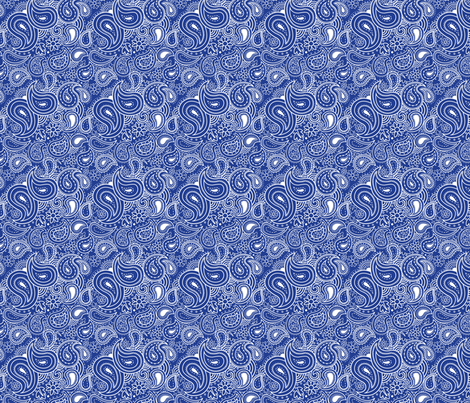 Paisley-dark-blue_white fabric by julistyle on Spoonflower - custom fabric