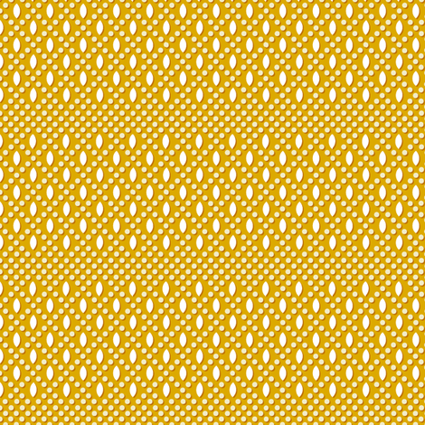 Vivianne* (Gold Marilyn) || polka dots diamonds beads geometric circles lattice mustard fabric by pennycandy on Spoonflower - custom fabric