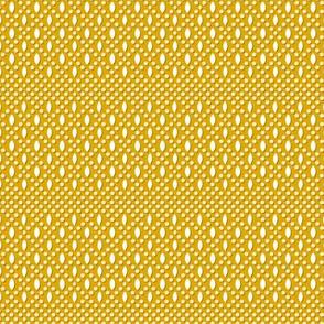 Vivianne* (Gold Marilyn) || polka dots diamonds beads geometric circles lattice mustard