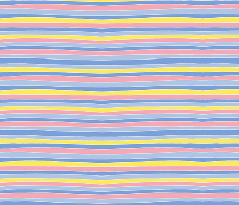 Easter Stripes fabric by lyddiedoodles on Spoonflower - custom fabric