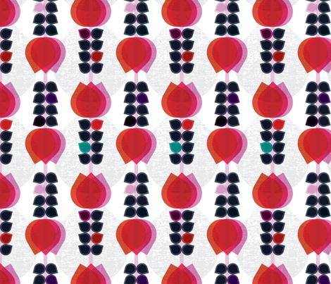 Geometric Tulips fabric by michellenilson on Spoonflower - custom fabric