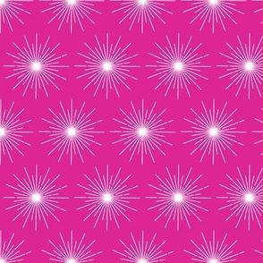 Pulsar* (Pink Riot) || galaxy outer space stars starburst cosmic atomic midcentury modern