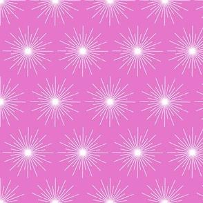 Pulsar* (Pink Liza) || galaxy outer space stars starburst cosmic atomic midcentury modern pastel