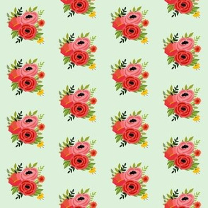 Mod Red Flowers Bouquet Mini