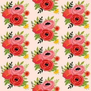 Mod Red Bouquet - Pink