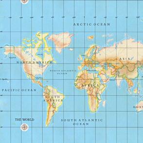 Bright world map