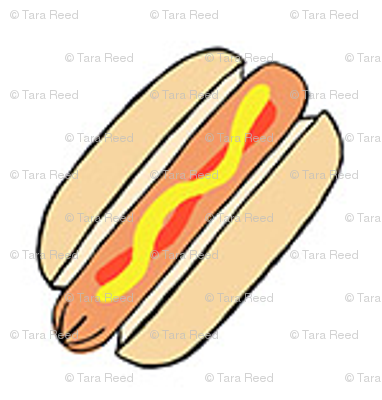"""Hot dogs on white- 1/2"""" scale"""