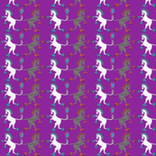 Medieval Unicorn Purple