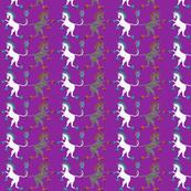Medieval Unicorn Purple