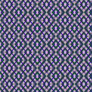 Violet-Emerald Crosshatch