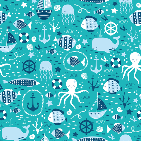Sea Life fabric by innamoreva on Spoonflower - custom fabric