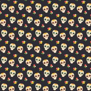 Black Mexican Skull