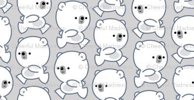 Running Little Polar Bears Grey by Cheerful Madness!!
