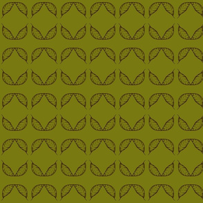 A Flight of Autumn Leaves  on Dark Olive Green