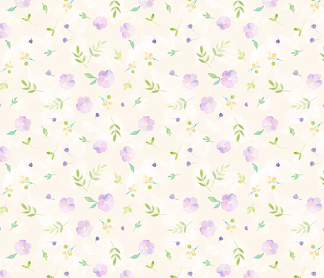 Scattered Spring fabric by monettestudio on Spoonflower - custom fabric