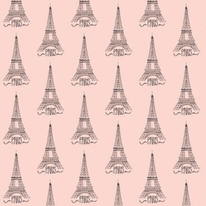 eiffel tower on pink