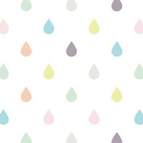 Raindrops - Pastel