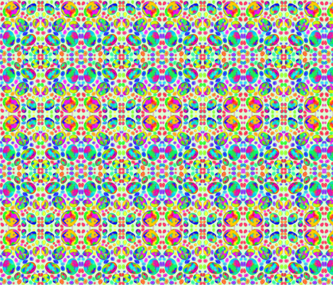 Easter egg mosaic on frosty mint fabric rhondadesigns for Egg mosaic design