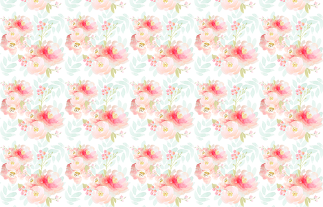 Indy Bloom Pink Plush Florals A fabric by indybloomdesign on Spoonflower - custom fabric