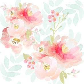 Indy Bloom Pink Plush Florals A