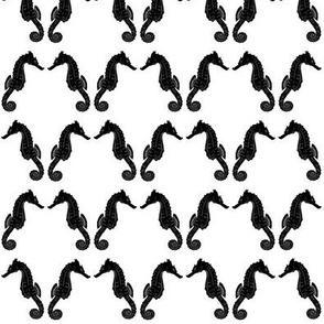 Black & White Seahorse