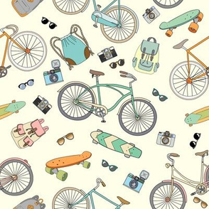 Bicycles, boards and accessories