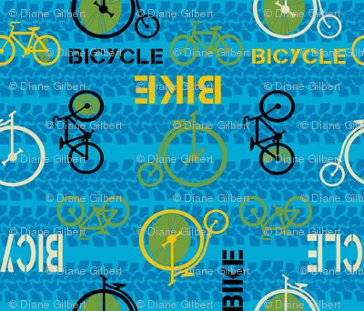 bike or bicycle blue by Diane Gilbert