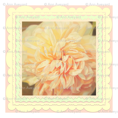 Beautiful Peach Floral Cushion