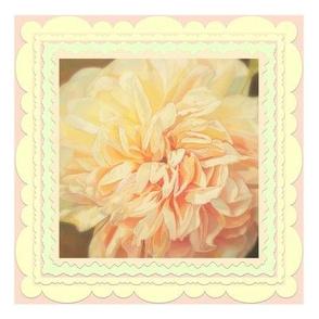 Beautiful Peach Floral Cushion