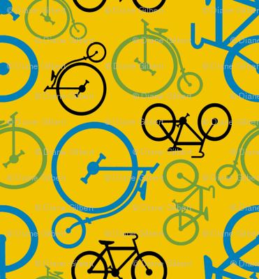 bike coordinate blue by Diane Gilbert