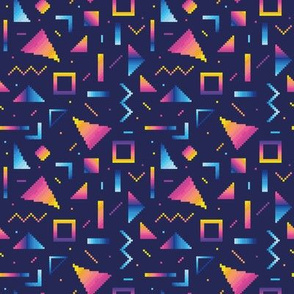 Abstract pixel shapes